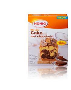 Honig Cake met chocotwist